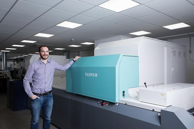Une Jet Press 720S pour l'impression de cartes de visite