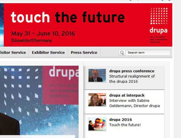Repositionnement de la drupa 2016