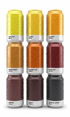 Des canettes de bière minimalistes aux couleurs Pantone