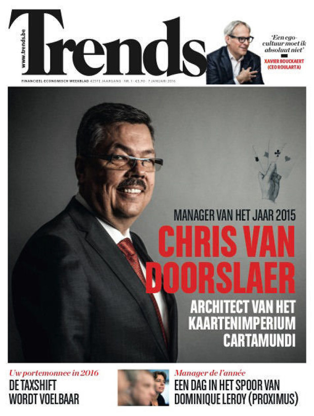 Chris Van Doorslaer, CEO de Cartamundi, est le Trends Manager de l'Année 2015