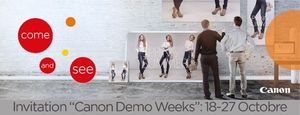Invitation aux Canon Demo Weeks du 18 au 27 octobre