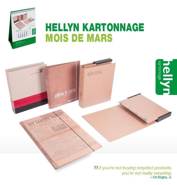 Hellyn Kartonnage : Le look and feel du recyclage a la cote